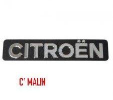 Monogramme inox en relief Citroën