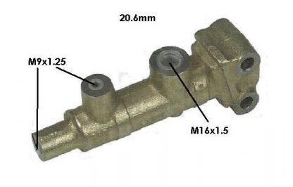 Maître cylindre lookeed Diam 9, 2 sortie, Méhari, Dyane, 2cv