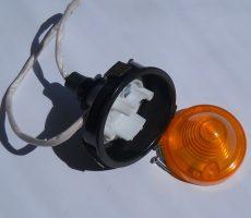 Feu Clignotant AV Complet support plastique Noir Gauche