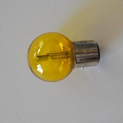 Ampoule Code/Phare à baïonette Jaune 6V 45-40 W