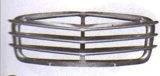 Calandre en aluminium poli de 1965 à 1974